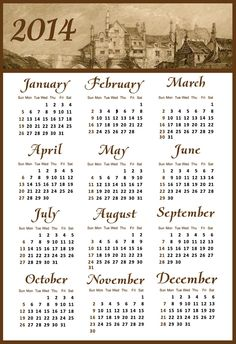 2014 Calendar with Holidays - Happy New Year 2014_4