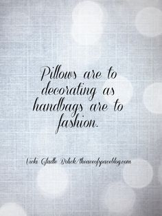 Pillow Obsessions