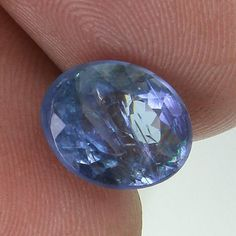 3.03 CTS NATURAL VIOLET BLUE TANZANITE GEMSTONE FACETED OVAL CUT ! TZ52
