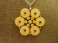 Hey, I found this really awesome Etsy listing at https://www.etsy.com/listing/234614431/paper-quilled-jewelrylight-yellow-dark