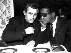 James Dean with Sammy Davis Jr Hollywood Party, Hollywood Actor, Classic Hollywood, Old Hollywood, James Dean Photos, Nostalgia, Tv Icon, He Makes Me Happy, Sammy Davis Jr