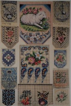 Berlin WoolWork Patterns For Antique BeadWork Purses No.8 ~ Vintage Beaded Purses