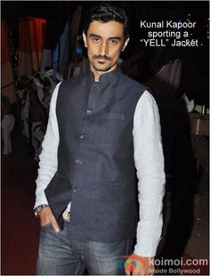 Spotted: Kunal Kapoor wearing YELL Nehru jacket... To shop for your favourite one, visit www.yellclubwear.com today!