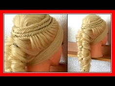 ELEGANT UPSTYLE FOR LONG HAIR HAIRSTYLE / HairGlamour Styles / Hairstyles / Hair Tutorial - YouTube