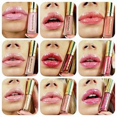 Nikki French Makeup Blog: BUXOM Lip Gloss Roulette Swatches. Yes! These are the colors of one of the best lip gloss plumpers. They are none sticky, pretty, and make your lips look bigger.