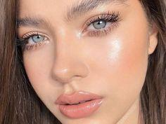 Fresh Makeup Look, Neutral Makeup Look, Natural Glowy Makeup, Glossy Makeup, Glowy Skin, Dewy Skin Makeup, Eyelashes Makeup, Highlighter Makeup, Cute Makeup