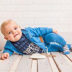 DIRKJE BABYKLEDING Jogging broek Chilled (blauw) | Dirkje babykleding