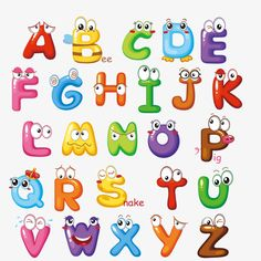 Cute letters PNG and Vector Alphabet A, Cute Fonts Alphabet, Hand Lettering Alphabet, Embroidery Alphabet, Alphabet For Kids, Russian Alphabet, English Alphabet, Creative Lettering, Lettering Styles