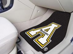 Protect your vehicle\'s flooring while showing your team pride with car mats by FANMATS. 100% nylon face with non-skid vinyl backing. Universal fit makes it ideal for cars, trucks, SUVs, and RVs. The officially licensed mat is chromojet printed in true team colors and designed with a large team logo. Made in USA.