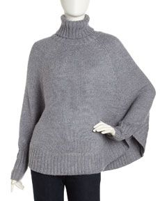 Grey overdress poncho