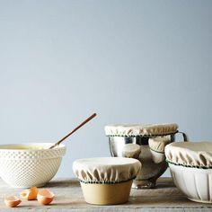 Linen & Cotton Bowl Covers (Set of on Provisions by