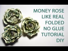 Origami Flowers Out Of Money - Money Rose Like Real Origami Flower Folded No Glue Dollar Tutorial How To Make A Money Rose Money Rose Money Flowers Money Origami Money Origami Flowe. Origami Money Flowers, Origami Flower Bouquet, Flower Lei, Money Rose, Money Lei, Money Origami Tutorial, Dollar Bill Origami, Dollar Bills, Money Bouquet
