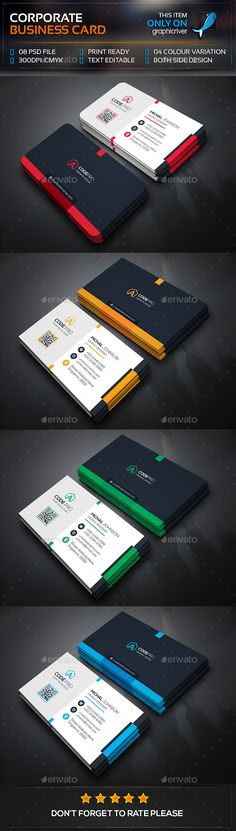 Mega Corporate Business Card — Photoshop PSD #shot #logo • Available here → https://graphicriver.net/item/mega-corporate-business-card/13477438?ref=pxcr