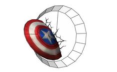 Captain America's Shield Wall Hanging Decoration Free Papercraft Download - http://www.papercraftsquare.com/captain-americas-shield-wall-hanging-decoration-free-papercraft-download.html#CaptainAmerica, #Decoration, #MarvelComics, #Shield, #WallHanging