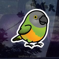 New batch should be available 7/19/16. If you dont mind the wait, please use this listing to order.  Add a cute chubby bird sticker to just about anything!  Size: 3.25x3.5 Made out of white vinyl material. These stickers are weather resistant, water-proof, and will stick strong on most surfaces and materials. When it comes time to remove them, they will come off clean leaving no messy residue behind.  © 2015 J.M. Budrock