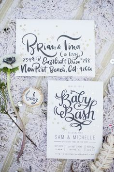 Rifle Paper inspired invitations: http://www.stylemepretty.com/living/2015/11/28/rifle-paper-inspired-shower/ | Photography: Michelle Kim - http://www.michellekimphoto.com/