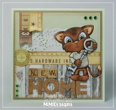 "Scrap-a-licious-times: ""New Home"" Pollycraft card."