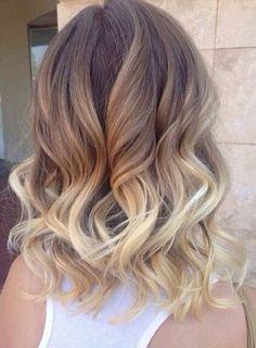 Balayage and soft curls