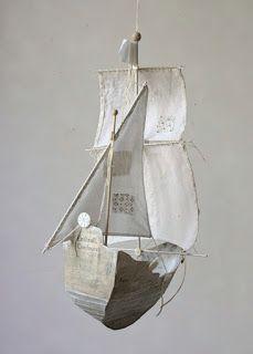 Cantinho craft da Nana: barco na decoração- para pendurar