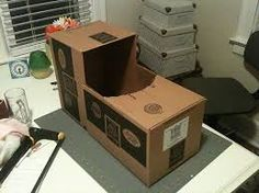 Image result for cardboard train