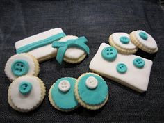 decorated cookies für den Stoffgarten