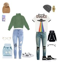 """""""Gucci"""" by morgan-e-howard on Polyvore featuring adidas, Yves Saint Laurent, Garrett Leight, Sugarbaby, Gucci, Rolex, NIKE, Vans and Outdoor Research"""