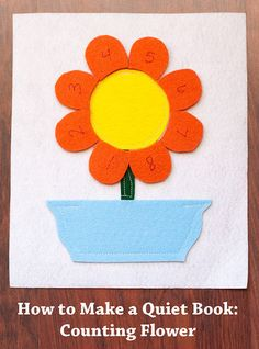 How to Make a Quiet Book: Counting Flowers