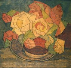 """""""June Roses,"""" c.1921 by Blanche Lazzell (1878-1956)   Artists - Michael Rosenfeld Art"""