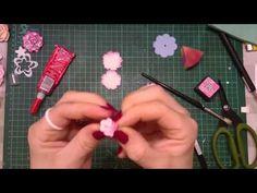 Małe kwiatuszki z dziurkacza dpCraft, scrapbooking tutorial, diy - YouTube