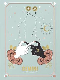 Gemini Zodiac Series Clear Acrylic Box by Cafelab - 4 X 4 X 3 Gemini Art, Zodiac Signs Gemini, Zodiac Art, Virgo Sign, Canvas Art, Canvas Prints, Art Prints, Astrology Numerology, Framed Art