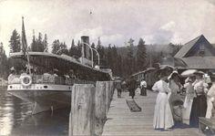 glenbrook lake tahoe pictures | Lake Tahoe Railway & Transportation Co Loco No1 Meeting the Steamer ...