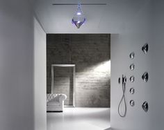 Zazzeri Virgin shower series - waterfall shower, bodysprays, hand shower