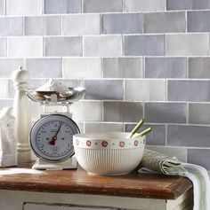 To create this Laura Ashley shabby chic kitchen, use our range of Laura Ashley Artisan tiles. Grey Wall Tiles, Kitchen Wall Tiles, Ceramic Wall Tiles, Wall And Floor Tiles, Kitchen Flooring, White Tiles, Kitchen Backsplash, Kitchen Sink, Laura Ashley Artisan Tiles