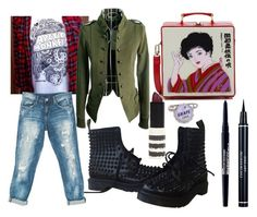 Random by drmartenslover on Polyvore featuring polyvore, fashion, style, Sans Souci, Dr. Martens, Olympia Le-Tan, Christian Dior, Topshop, Smashbox and clothing