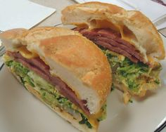 "What is pork roll? As one fan puts it, ""It's like Spam meets bacon."" This sandwich is one of many ways to eat the processed meat, a largely unsung specialty of New Jersey. Savoury Slice, Souvlaki Recipe, Breakfast Meat, Breakfast Recipes, Pork Roll, Chicken Souvlaki, Lunches And Dinners, New Jersey, Jersey Girl"