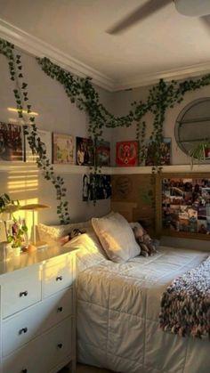 Room Design Bedroom, Room Ideas Bedroom, Bedroom Inspo, Bedroom Ideas For Small Rooms, Living Room Ideas, Indie Room Decor, Indie Bedroom, Bohemian Bedroom Decor, Cozy Room