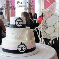 Image result for chanel bridal shower cake