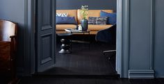 jotun lady 4618 kveldshimmelDeco Blue i bakgrunnen Jotun Lady, Trends 2016, Blue Black Color, Deco Blue, Wall Colors, Colorful Interiors, Color Combos, Color Inspiration, Tall Cabinet Storage