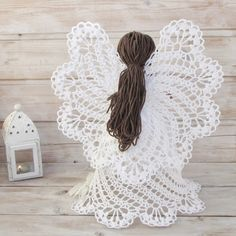 Crochet Angel Pattern, Crochet Dolls Free Patterns, Crochet Angels, Crochet Stars, Crochet Snowflakes, Crochet Diy, Easter Crochet, Thread Crochet, Crochet Doilies