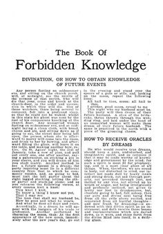 The Book of Forbidden Knowledge - Magic Grimoire - spells - talismans - omens - Black Book - spell b