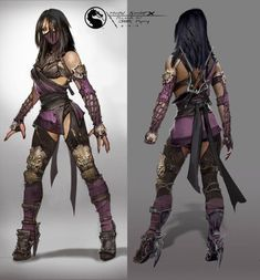 Mortal Kombat X, Video Game Characters, Female Characters, Female Villains, Fantasy Characters, Mortal Kombat Costumes, Kung Jin, Harley Quinn, Character Art