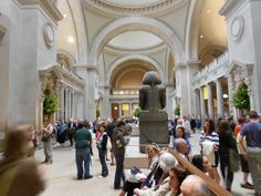 The Metropolitan Museum, entrance to the Egyptian Galleries.  a scene in The Stolen Chalice.