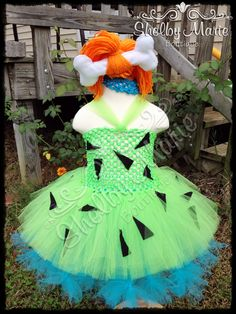 "Pebbles ""Flinstones"" Tutu Costume Fabi saw this and wants to be pebbles. So I guess I gotta make this lol"