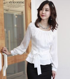 Cheap dress shirt cheap, Buy Quality dresses for the wedding party directly from China shirt china Suppliers: 2013 Fashion Elegant Bowtie Women's Long Sleeve Chiffon Blouse White Beige nude Ruffled Pleated Women's  Chiffon dress shirt