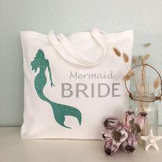 Mermaid Bride Tote Bag: purse beach bag wedding