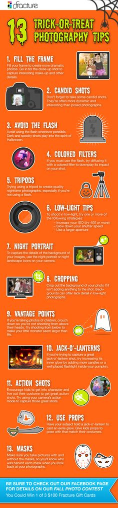 13 Trick-Or-Treating Photography Tips from Fracture! Don't forget to enter our Fracture Fall Photo Contest on Facebook - we are giving away 3 $100 gift certificates for the most popular photos! - (http://blog.fractureme.com/)