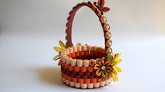New miniature quilled flower basket pinterest flower basket quilled basket part 1 paper basket quilling basket quilled flower basket mightylinksfo