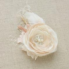 lace wedding headpiece wedding bridal hair flower wedding flower hair clip rustic wedding. Black Bedroom Furniture Sets. Home Design Ideas