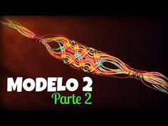 Pulsera hilos sueltos (pt 2) ♥︎ macrame tutorial | como hacer | how to - YouTube