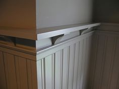 interesting twist to typical wainscotting